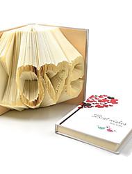 RayLineDo® Love Shapes Handmade DIY Paper Book Folding Journal NotepadAs Romantic Creative Gift or Art