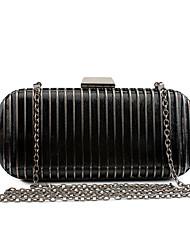 L.WEST Women's Elegant High-end Stripe Evening Bag