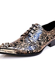 Men's Oxfords/Club Shoes/Novelty/Cowhide/Party & Evening/Metallic toe/High-end custom/Constantin