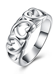 Hot Sale Fashion Ring Silver Plated Ring Silver Color Jewelry Ring factory Prices Heart RING Christmas Gift for Women