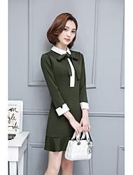 2017 primavera nova versão coreana da saia rabo de peixe retro outono e inverno arco moda boneca colar vestido de verão era uma mulher
