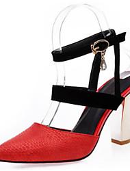 Mujer-Tacón Robusto-Innovador Zapatos del club-Zuecos y pantuflas-Oficina y Trabajo Vestido Fiesta y Noche-Materiales Personalizados