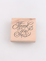 Vintage Rubber Stamp Ink Thank You Wood Alphabet Stamp DIY Scrapbooking Mark