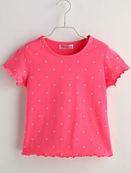 Tee-shirts bébé Points Polka Décontracté / Quotidien-Coton-Eté-Rouge