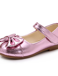 Girls' Sandals Spring Summer Patent Leather PU Wedding Dress Party & Evening Flat Heel Bowknot Gold Black Blushing Pink
