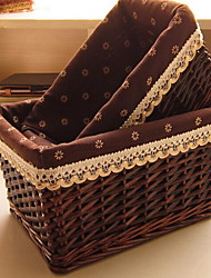 Storage Boxes Wicker withFeature is Open  For Jewelry Underwear Shopping  Random color