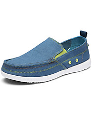 Men's Boat Shoes Spring Summer Light Soles Canvas Office & Career Casual Low Heel