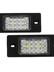 2 х ошибок 18 3528 SMD LED освещения номерного знака лампы для PORSCHE CAYENNE VW Touareg Пассат
