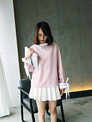 Modell real shot * 2017 Frühjahr neue Pullover weibliche Sicherungs College Wind Langarm-T-Shirt