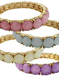 Armbänder Strang-Armbänder Aleación Opal Others Freundschaft Modisch Vintage Hochzeit Geburtstag Schmuck Geschenk Weiß Grün Rosa,1 Stück