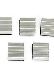 5PCS Aluminum 3D Printer Heatsink - SILVER