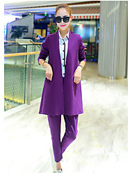 Suit suit female 2017 spring fashion suit jacket and long sections career casual trousers temperament two