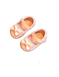 Baby Flats Comfort Other Animal Skin Spring Fall Casual Outdoor Running Comfort Magic Tape Low Heel White Peach Blushing Pink Flat