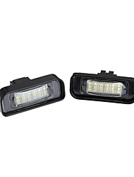 2 x White 18 LED 3528 SMD License Plate Lights Lamp Bulb for BENZ W220 S-class Canbus
