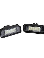 2 x branca 18 LED 3528 luzes da placa de licença SMD lâmpada do bulbo para o Benz W220 S-Class canbus