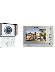ACTOP smart système rfid intercom maison 1v1 one to one sonnette vidéo 7 pouces écran 6 ir lampes câble interphone visible