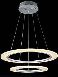 Modern LED Pendant Light Ceiling Hanging Chandeliers Ceiling Lamp Fixtures with 32W 2 ring 4060 CE FCC
