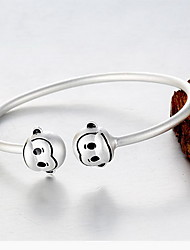 Bangles Natural Sterling Silver Animal Shape Monkey Jewelry For Gift