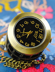 Casal Relógio de Bolso Quartzo Lega Banda Bronze