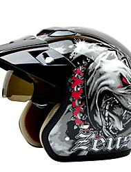 REUS 381C Motorcycle Half Helmet Warm Helmet ABS Material