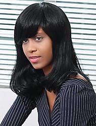 Elegance  Long Natural Wave Human Hair Capless  Wigs