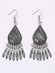 Bohemia Tassel Earrings National Palace Wind Restoring Ancient Ways Classical Hollow Out Earrings