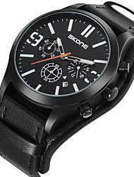 SKONE Men's Sport Watch Dress Watch Fashion Watch Wrist watch Japanese Quartz Calendar Water Resistant / Water Proof Punk Large Dial