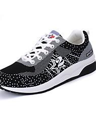 Femme-Extérieure Décontracté Sport-Blanc Noir Gris Rose-Talon Plat-couple Chaussures-Chaussures d'Athlétisme-Tulle
