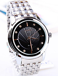 Men's Couple's Fashion Watch Quartz Stainless Steel Band Silver