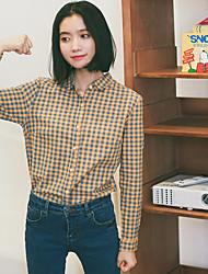 знак новой весны куртка хлопок клетчатую рубашку студент пункт вышивка небольшой свежий рубашку
