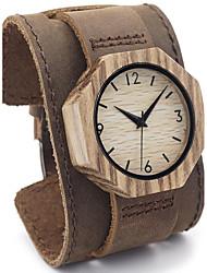 Men's Women's Unisex Sport Watch Dress Watch Fashion Watch Wrist watch Bracelet Watch Punk Japanese Quartz Genuine Leather BandVintage