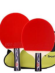 Ping Pang/Настольный теннис Ракетки Ping Pang Резина Короткая рукоятка Прыщи