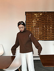 знак ~ письмо вышивка с высоким воротником кашемировый свитер