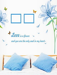 Blue Lily Wall Sticker Vinyl Material Home Decoration