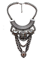 Women's Statement Necklaces Jewelry Gemstone Alloy Jewelry Fashion Personalized Euramerican Black JewelryParty Special Occasion