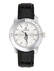 Women's Fashion Watch Quartz Genuine Leather Band Black