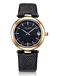 Women's Fashion Watch Swiss Quartz Calendar Water Resistant / Water Proof Quartz Genuine Leather Band Charm Casual Black