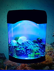 Mini Aquariums Background Artificial Plastic Colorful Light USB/AA Battery