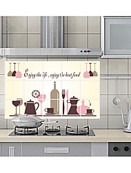 Red wine Glass Kitchen Ceramic Tile To Stick Wall Prevent Oil Stickers