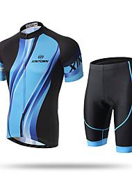 XINTOWN® Men's Short Sleeves Cycling Jerseys Blue Jacket Shirts Clothes Xintown Summer Cycling T Shirt Shorts Set