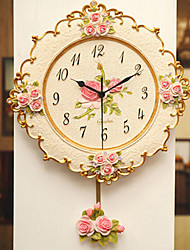 New Resin Wall Clock Creative living Room Bedroom Modern Simple Fashion Idyllic Watches Continental Mute