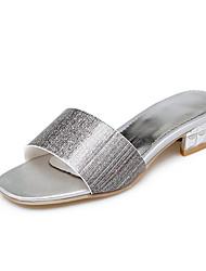 Sandals Spring Summer Other Leatherette Dress Low Heel Others Gold Sliver Pink