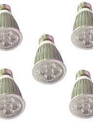 5W E14 E27 Luci LED per la coltivazione 5 LED ad alta intesità 450-550 lm Rosso Blu V 5 pezzi