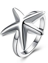 Anéis Diário Jóias Prata Chapeada Anel 1peça,8 Prateado