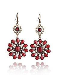 Europe exaggerated jewelry Bohemia Drop Earrings 0405# Gemstone Stud Earrings