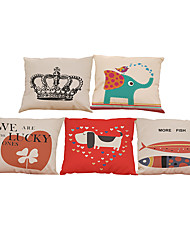 Set of 5 household creative pattern  Linen Pillow Case Bedroom Euro Pillow Covers 18x18 inches  Cushion cover
