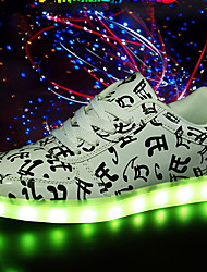 2017 New Arrival Unisex Casual Shoes Led Shoes Glowing Fashion Luminous Led Light UP Shoes for Adults Back White Low Heel LED Lace-up Big Size White