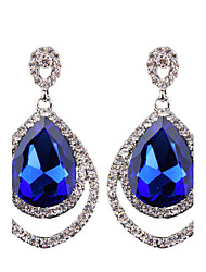 European And American Fashion All-Match Full Diamond Pierced Earrings
