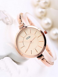 Women's Fashion Watch Water Resistant / Water Proof Quartz Alloy Band Casual Cool Rose Gold