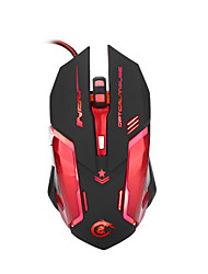 Wired Optical Mouse Adjustable 3200 DPI 6 Buttons USB Computer Mouse LED Backlit Gaming Mouse with PC Mice for Laptop Support macro